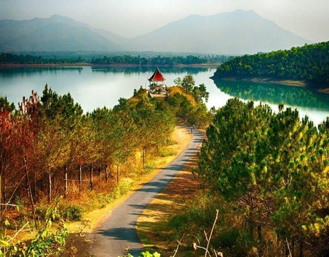 Bức tranh toàn cảnh về Biển Hồ Tơ Nưng. (Ảnh ST)