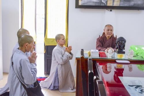 Phái đoàn chùa Bửu Thọ - Gia Lai thăm chùa Hoằng Pháp