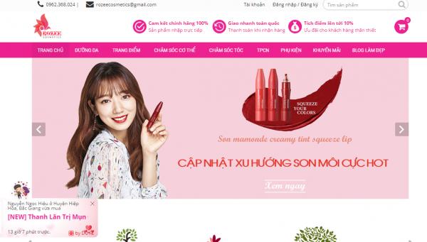 Top 5 cửa hàng mỹ phẫm chất lượng uy tín tại Việt Nam hot trên MXH!