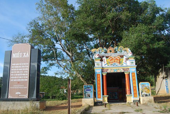 Miếu Xà, một di tích thuộc quần thể Tây Sơn Thượng Đạo