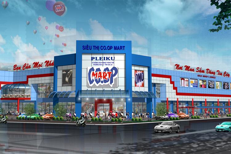 Địa chỉ Siêu thị Co.opmart ở đâu? Trong thành phố Pleiku Gia Lai