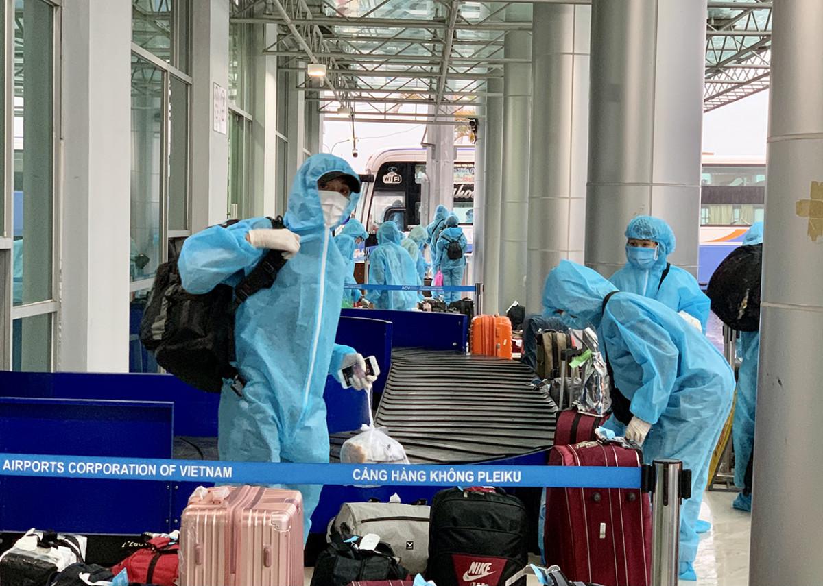 Gia Lai: Đón 192 công dân từ TP. Hồ Chí Minh và Bình Dương về tỉnh
